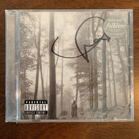 Signed Folklore Taylor Swift album